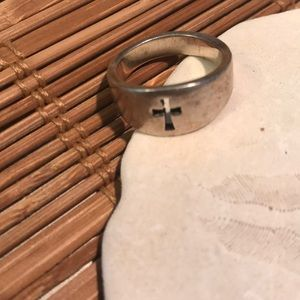 James Avery small cross let ring